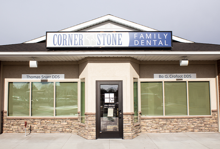 Front entry of Cornerstone Family Dental