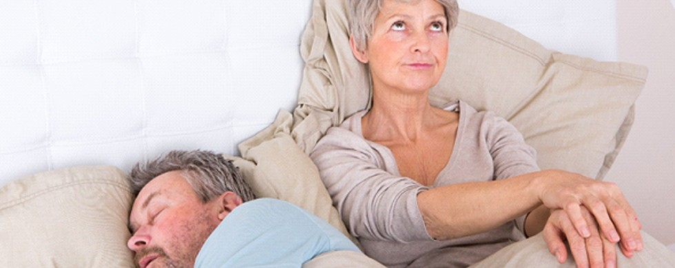 wife upset at husband snoring